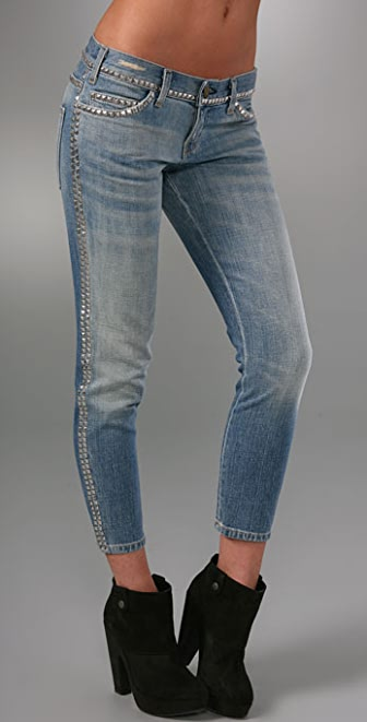 Current/Elliott The Crop Skinny Jeans