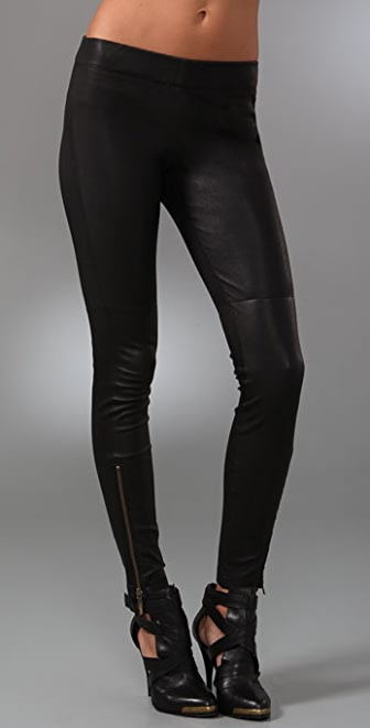 Current/Elliott The Leather Pull On Leggings