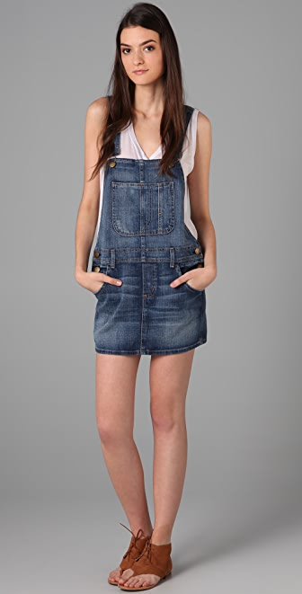 Current/Elliott The Overall Denim Dress | 15% off first app ...