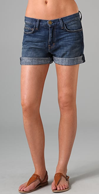 Current/Elliott Denim Rolled Shorts