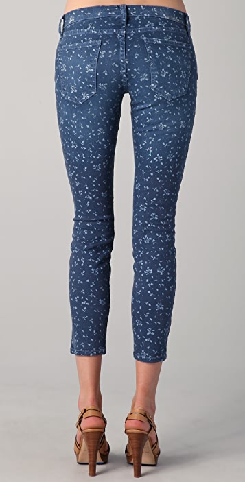 Current/Elliott The Floral Stiletto Skinny Jeans