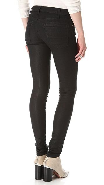 Current/Elliott Coated Skinny Jeans