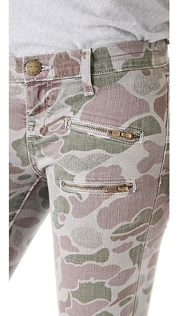 Current/Elliott The Multi Zip Stiletto Jeans