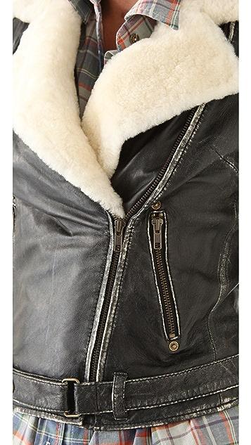 Current/Elliott The Shearling Biker Jacket
