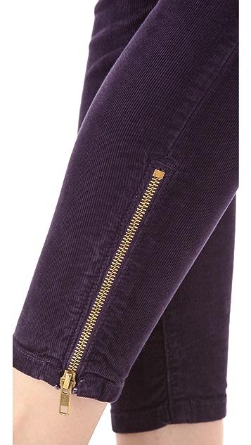 Current/Elliott Zip Stiletto Corduroy Pants