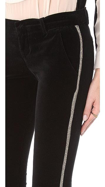 Current/Elliott The Crop Tux Velveteen Pants