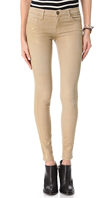 Current/Elliott The Coated Ankle Skinny Jeans