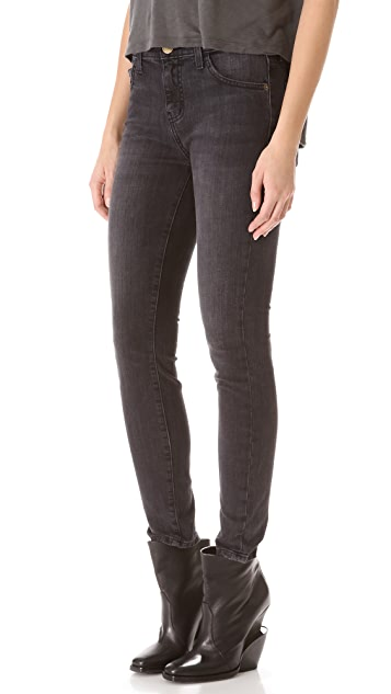 Current/Elliott High Waisted Cropped Skinny Jeans