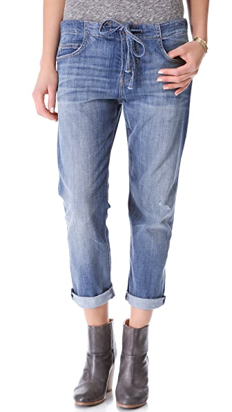 Current/Elliott The Drawstring Boyfriend Jeans
