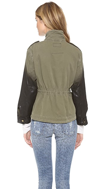 Current/Elliott The Lone Soldier Jacket with Coated Sleeves