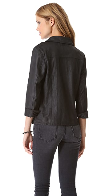 Current/Elliott The Leather Mechanic Jacket