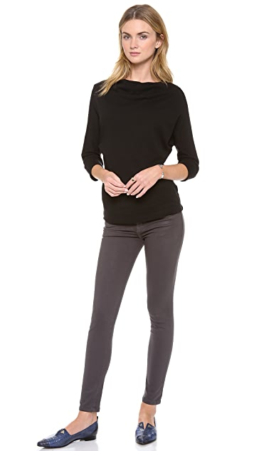 Current/Elliott The Coated Stretch Stiletto Jeans