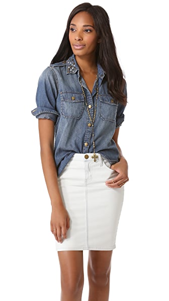 Current/Elliott The Perfect Shirt with Studs