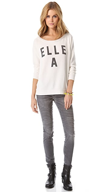 Current/Elliott The Moto Ankle Skinny Jeans
