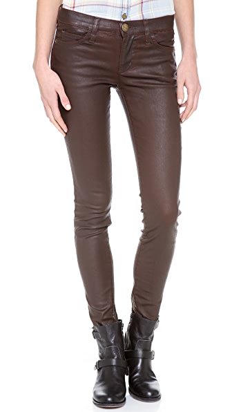 Current/Elliott The Ankle Skinny Coated Jeans