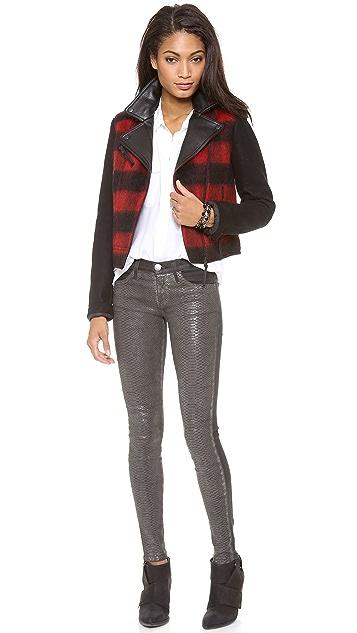 Current/Elliott The Python Coated Skinny Jeans