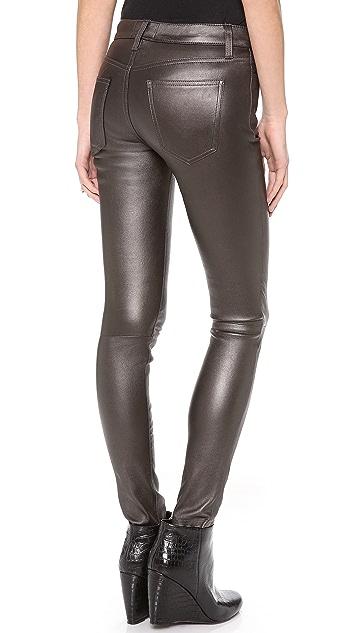 Current/Elliott The Ankle Skinny Leather Pants