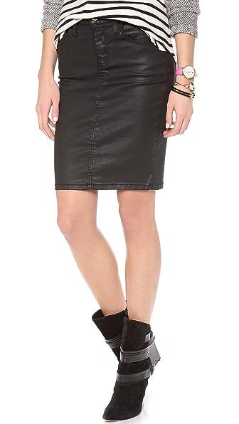 Current/Elliott The Coated Stiletto Pencil Skirt