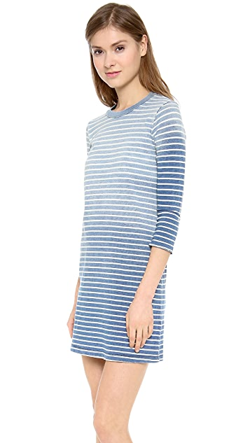 Current/Elliott The 3/4 Sleeve Tee Dress