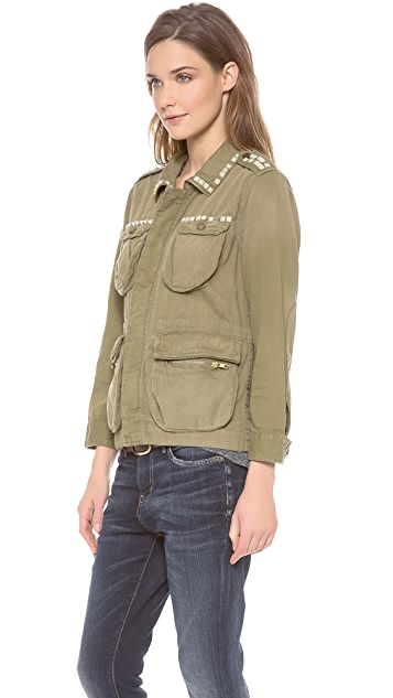 Current/Elliott The Studded Lone Soldier Jacket