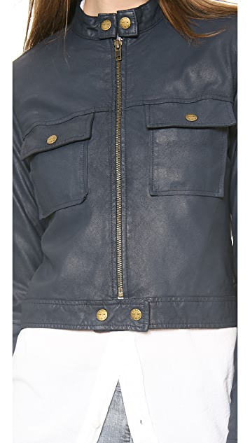 Current/Elliott The Leather Moto Jacket