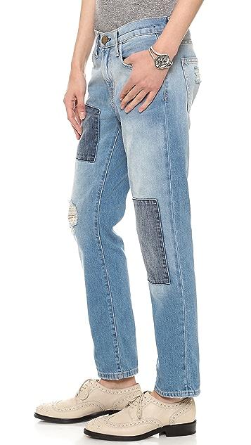 Current/Elliott The Patchwork Fling Jeans