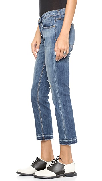 Current/Elliott The Cropped Straight Leg Jeans