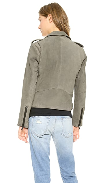 Current/Elliott The Leather Prospect Biker Jacket
