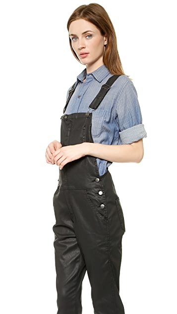 Current/Elliott The Ranchhand Coated Overalls