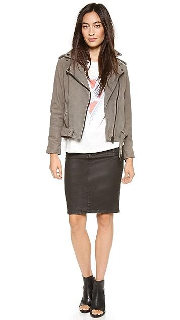 Current/Elliott The Soho Coated Stiletto Pencil Skirt