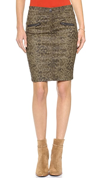 Current/Elliott The Soho Zip Stiletto Pencil Skirt