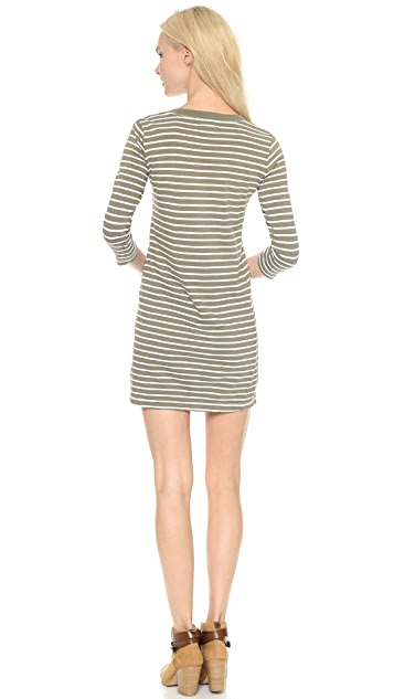 Current/Elliott The 3/4 Sleeve Tee Dress