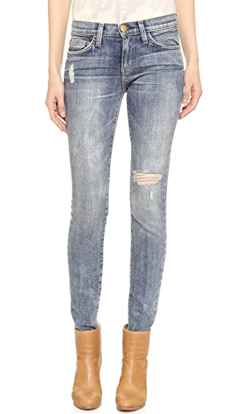 Current/Elliott The Distressed Skinny Jeans