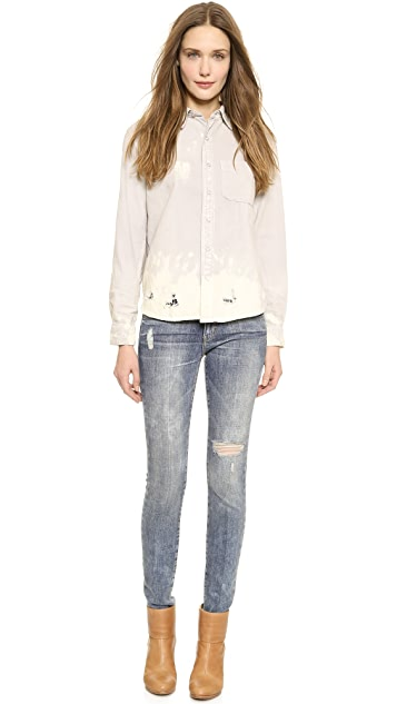 Current/Elliott The Distressed Skinny Jeans