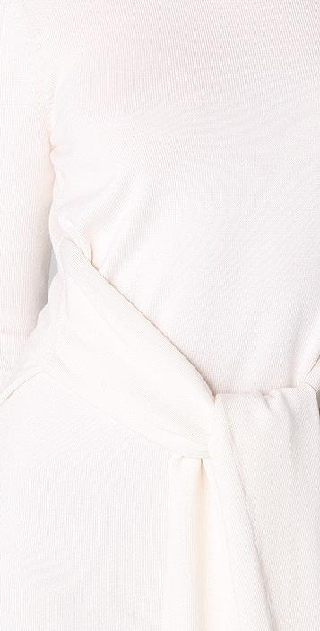 Cushnie Et Ochs Cashmere Sweater Dress with Waist Ties