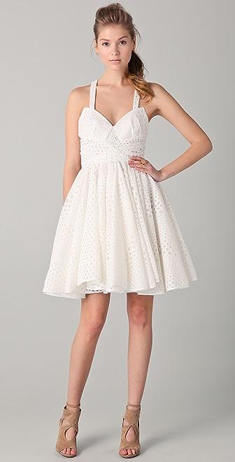 Cushnie Et Ochs Eyelet Dress with Full Skirt