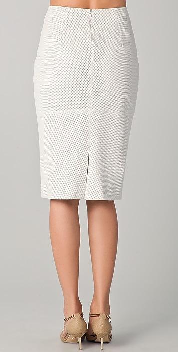 Cushnie Et Ochs Perforated Leather Skirt