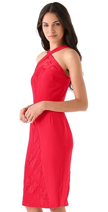 Cushnie Et Ochs Crisscross Lace Dress