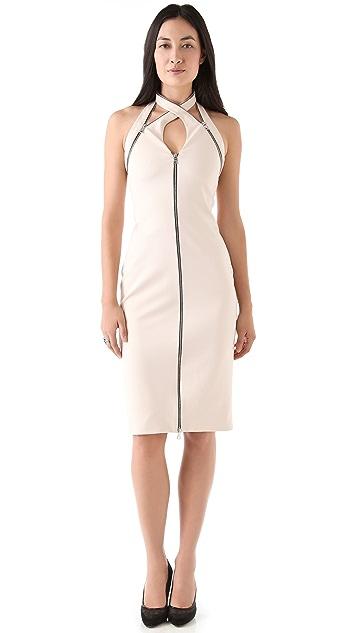 Cushnie Et Ochs Interlock Zipper Dress