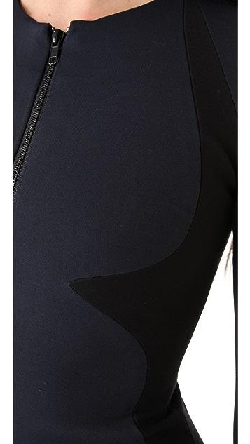 Cushnie Et Ochs Contour Zip Dress