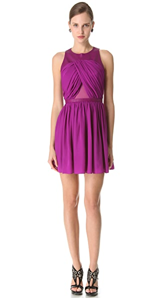 Cushnie Et Ochs Draped Full Skirt Dress