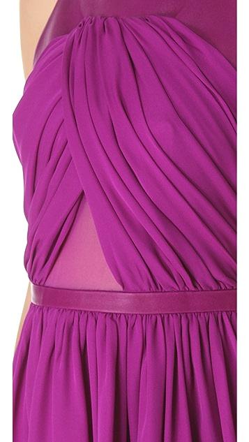 Cushnie Et Ochs Draped Full Skirt Dress
