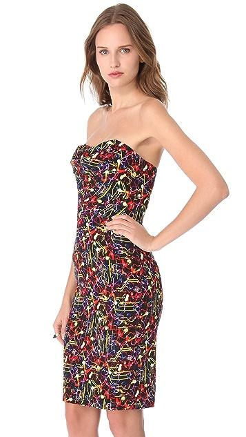 Cushnie Et Ochs Draped Strapless Dress