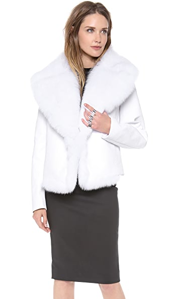 Cushnie Et Ochs Jacket with Fox Fur