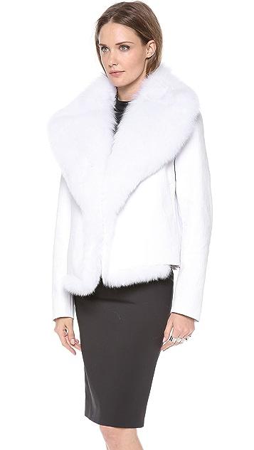 Cushnie Et Ochs Jacket with Fox Fur
