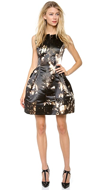 Cushnie Et Ochs Satin Printed Dress