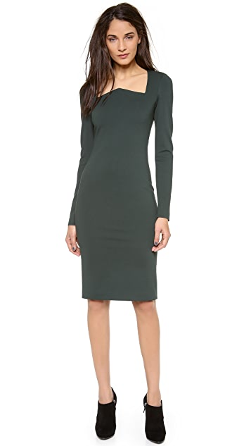 Cushnie Et Ochs Long Sleeve Jersey Dress