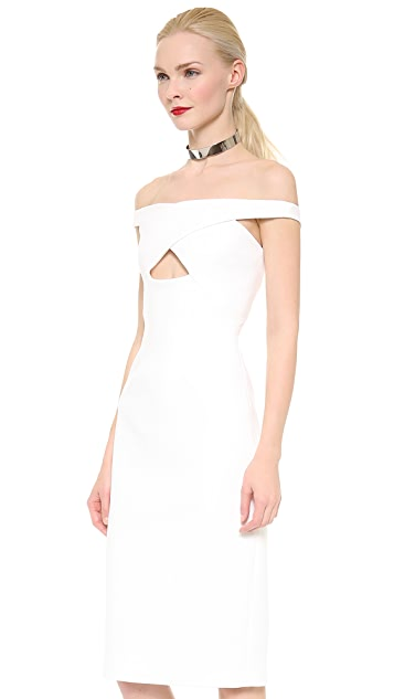 Cushnie Et Ochs Triangle Cutout Scuba Dress