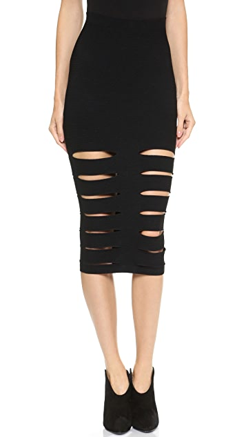 Cushnie Et Ochs Slash Pencil Skirt