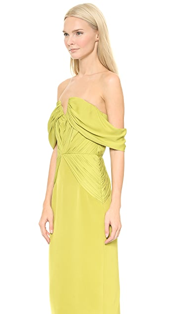 Cushnie Et Ochs Off the Shoulder Dress